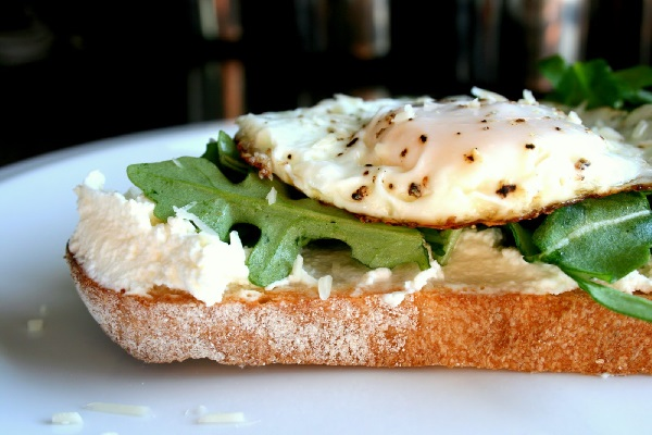 Egg Riccota open Sandwich